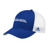 Adidas Royal Structured Adjustable Hat-Northwood University Timberwolves Wordmark