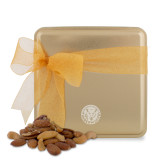 Deluxe Nut Medley Gold Medium Tin-Primary Athletic Mark Engraved