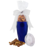 Deluxe Nut Medley Vacuum Insulated Blue Tumbler-Primary Athletic Mark Engraved