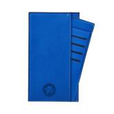 Parker Blue RFID Travel Wallet-Primary Athletic Mark Engraved