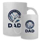 Dad Full Color White Mug 15oz-Dad with Athletic Mark