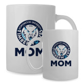 Mom Full Color White Mug 15oz-Mom with Athletic Mark