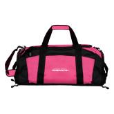 Tropical Pink Gym Bag-Northwood University Timberwolves Wordmark