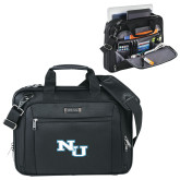 Kenneth Cole Black Vertical Checkpoint Friendly Messenger-NU Athletic Mark