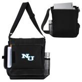 Impact Vertical Black Computer Messenger Bag-NU Athletic Mark