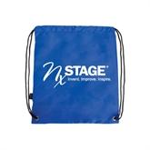 Royal Drawstring Backpack-Invent. Improve. Inspire.
