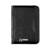Wall Street Black Zippered Padfolio-