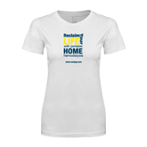 Next Level Ladies SoftStyle Junior Fitted White Tee-Reclaim Your Life with Portable Home Hemodialysis