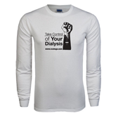 NxStage White Long Sleeve T Shirt-Take Control of Your Dialysis