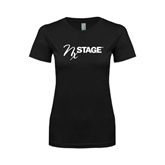Next Level Ladies SoftStyle Junior Fitted Black Tee-