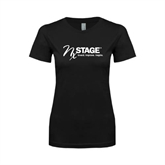 Next Level Ladies SoftStyle Junior Fitted Black Tee-Invent. Improve. Inspire.