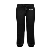 ENZA Ladies Black Banded Fleece Capri-