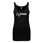 Next Level Ladies Junior Fit Black Jersey Tank-