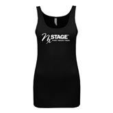 Next Level Ladies Junior Fit Black Jersey Tank-Invent. Improve. Inspire.