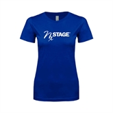 Next Level Ladies SoftStyle Junior Fitted Royal Tee-