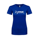 Next Level Ladies SoftStyle Junior Fitted Royal Tee-Invent. Improve. Inspire.