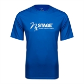 Performance Royal Tee-Invent. Improve. Inspire.