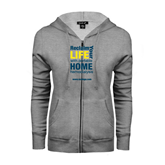 ENZA Ladies Grey Fleece Full Zip Hoodie-Reclaim Your Life with Portable Home Hemodialysis