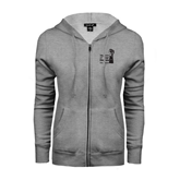 ENZA Ladies Grey Fleece Full Zip Hoodie-Take Control of Your Dialysis
