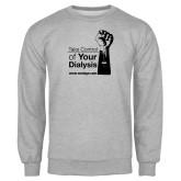 Grey Fleece Crew-Take Control of Your Dialysis