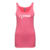 Next Level Ladies Junior Fit Fuchsia Jersey Tank-