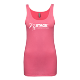 Next Level Ladies Junior Fit Fuchsia Jersey Tank-Invent. Improve. Inspire.