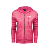 ENZA Ladies Fuchsia Fleece Full Zip Hoodie-Invent. Improve. Inspire.