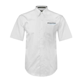 White Twill Button Down Short Sleeve-Medisystems