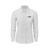Ladies White Oxford Shirt-Invent. Improve. Inspire.