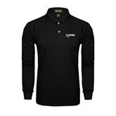 Black Long Sleeve Polo-
