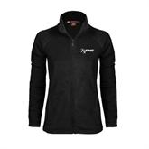 NxStage Ladies Fleece Full Zip Black Jacket-