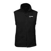 NxStage Fleece Full Zip Black Vest-
