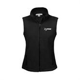 NxStage Ladies Fleece Full Zip Black Vest-