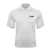 White Textured Saddle Shoulder Polo-Invent. Improve. Inspire.