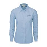 Ladies Light Blue Oxford Shirt-