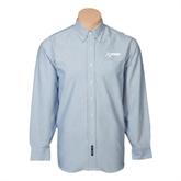 Mens Light Blue Oxford Long Sleeve Shirt-