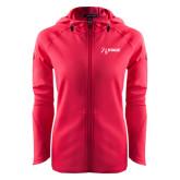 Ladies Tech Fleece Full Zip Hot Pink Hooded Jacket-