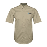 Khaki Twill Button Down Short Sleeve-Invent. Improve. Inspire.