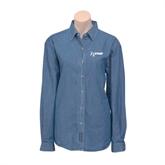 Ladies Denim Long Sleeve Shirt-