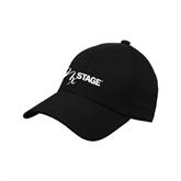 Black Heavyweight Twill Pro Style Hat-