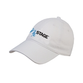 White Twill Unstructured Low Profile Hat-