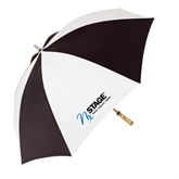 62 Inch Black/White Umbrella-Invent. Improve. Inspire.