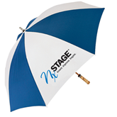 62 Inch Royal/White Umbrella-Invent. Improve. Inspire.
