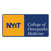 Large Decal-NYIT College of Osteopathic Medicine - Horizontal, 12 inches wide
