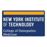 Large Decal-NYIT College of Osteopathic Medicine - Horiontal