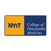 Small Decal-NYIT College of Osteopathic Medicine - Horizontal, 6 inches wide