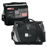 Slope Black/Grey Compu Messenger Bag-NYIT College of Osteopathic Medicine - Horizontal