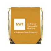 Gold Drawstring Backpack-College of Osteopathic Medicine at Arkansas