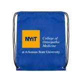 Royal Drawstring Backpack-College of Osteopathic Medicine at Arkansas