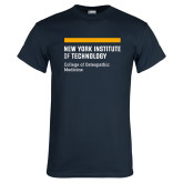 Navy T Shirt-NYIT College of Osteopathic Medicine - Horiontal